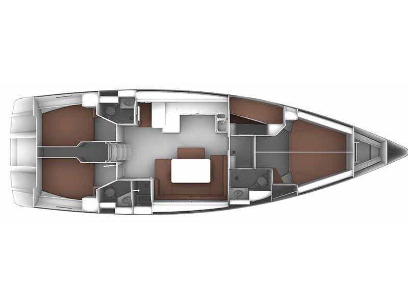 Bavaria Cruiser 51 (Guarda che luna) Plan image - 7