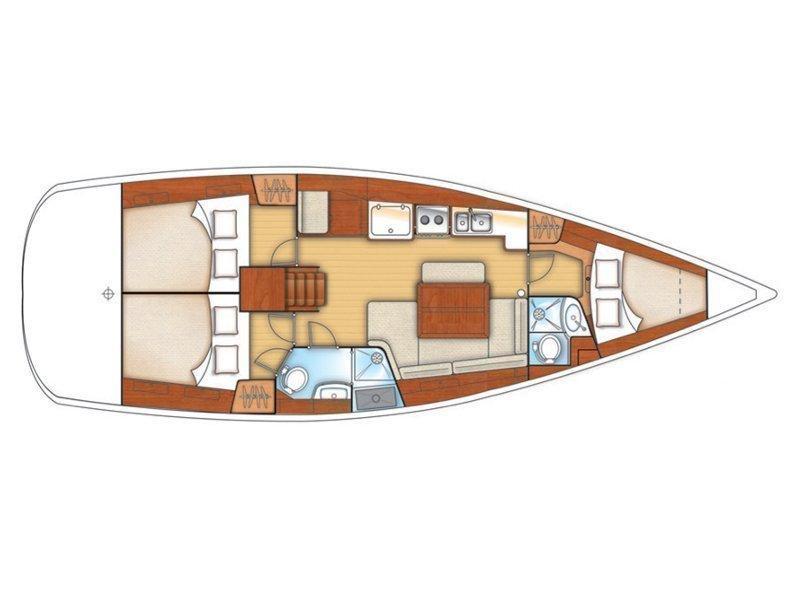 Oceanis 40 (EC- O40-08-CR) Plan image - 1