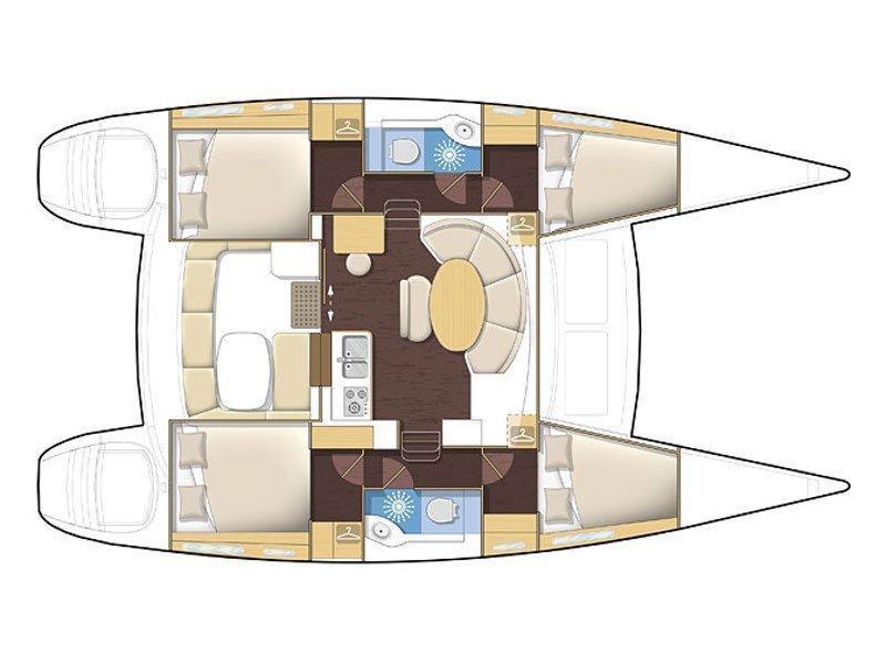 Lagoon 380 (NIRVANA) Plan image - 13