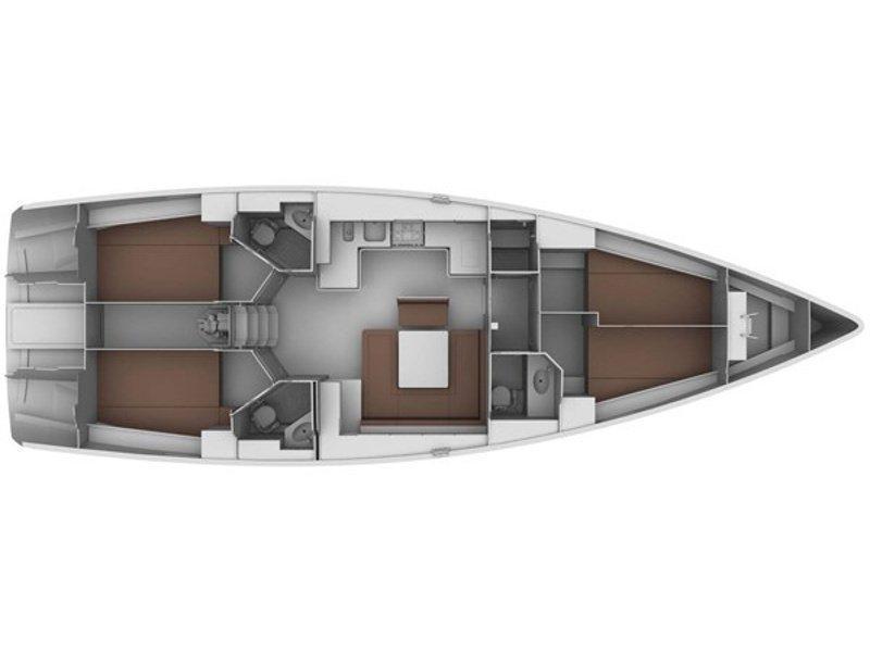 Bavaria 45 Cruiser (The Pink Parrot) Plan image - 1