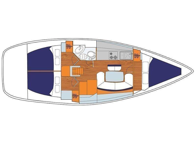 Sun Odyssey 389 () Plan image - 1