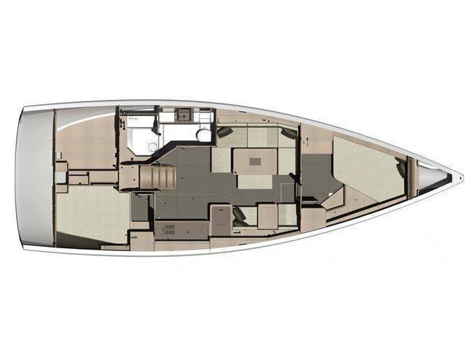 Dufour 412 Grand large (Desiree II) Plan image - 1