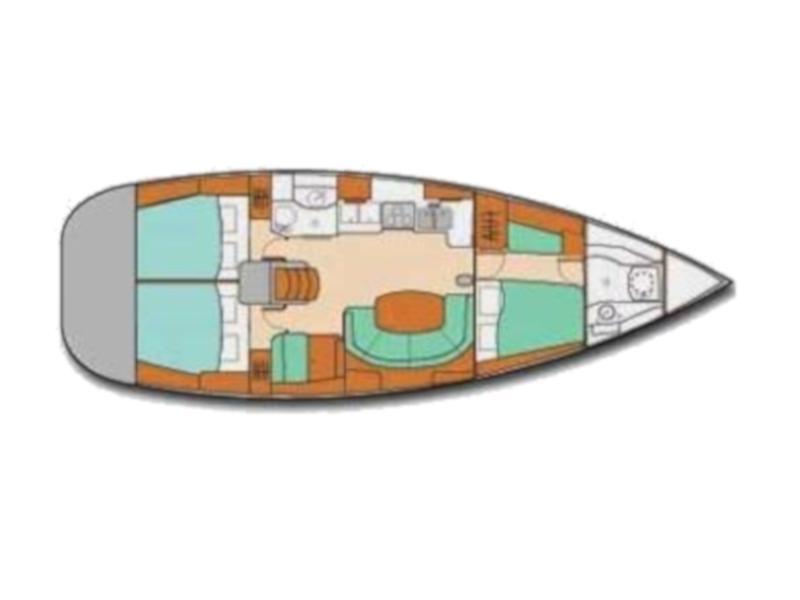Oceanis 41 (Lady Di) Plan image - 3
