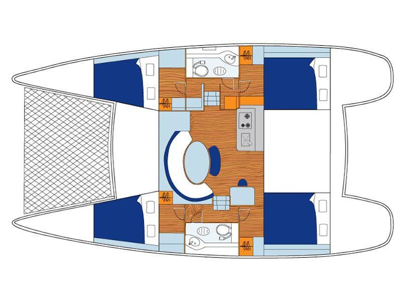Lagoon 380 (My Shangri-La) Plan image - 11