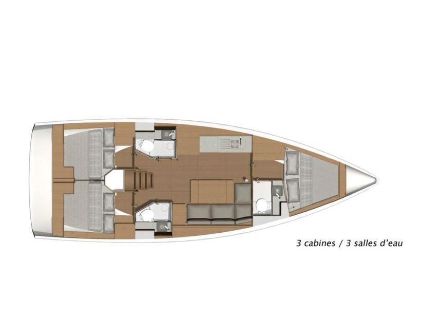 Dufour 390 Grand Large (Friend Planet) Plan image - 2