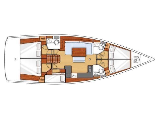 Oceanis 48 (Katerina Mare) Plan image - 2