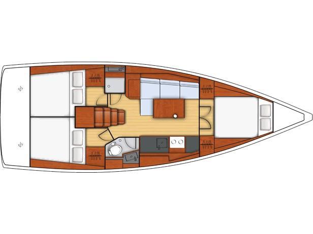 Oceanis 38 (Servus) Plan image - 2