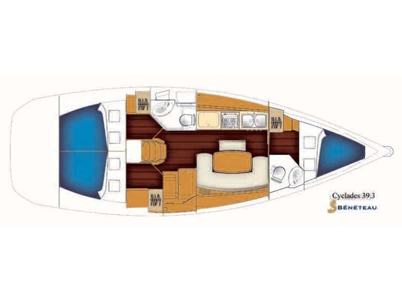 Beneteau Cyclades 39.3 (ALASKA) Plan image - 3