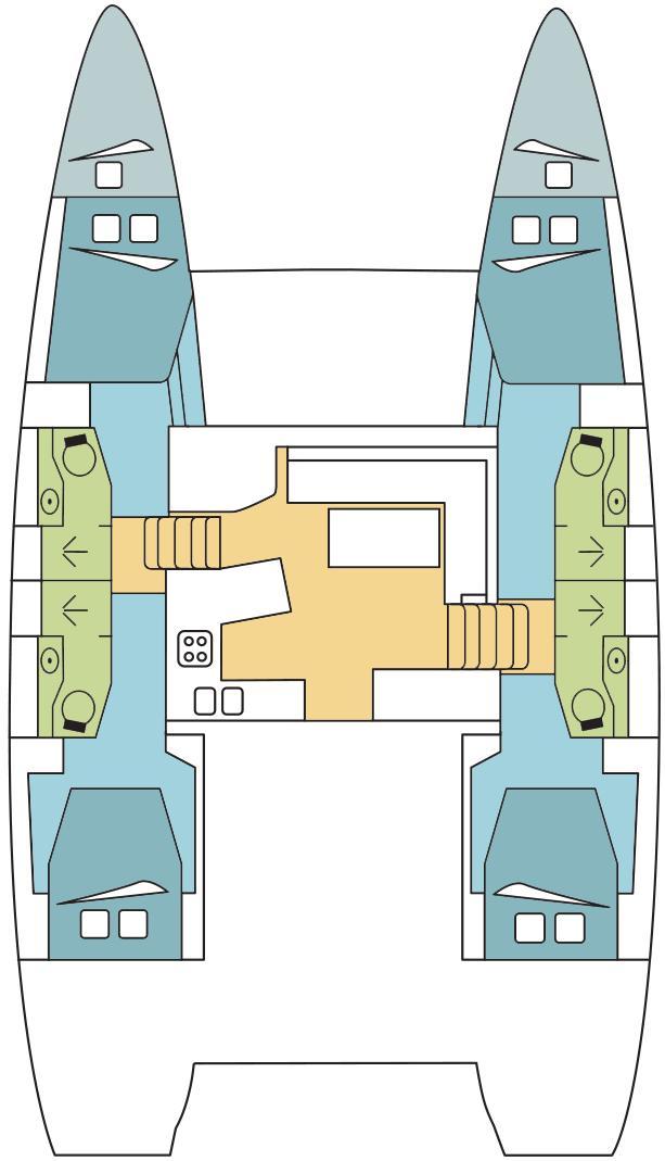Lagoon 450 F - 4 + 2 cab. (ANTARES )  - 1