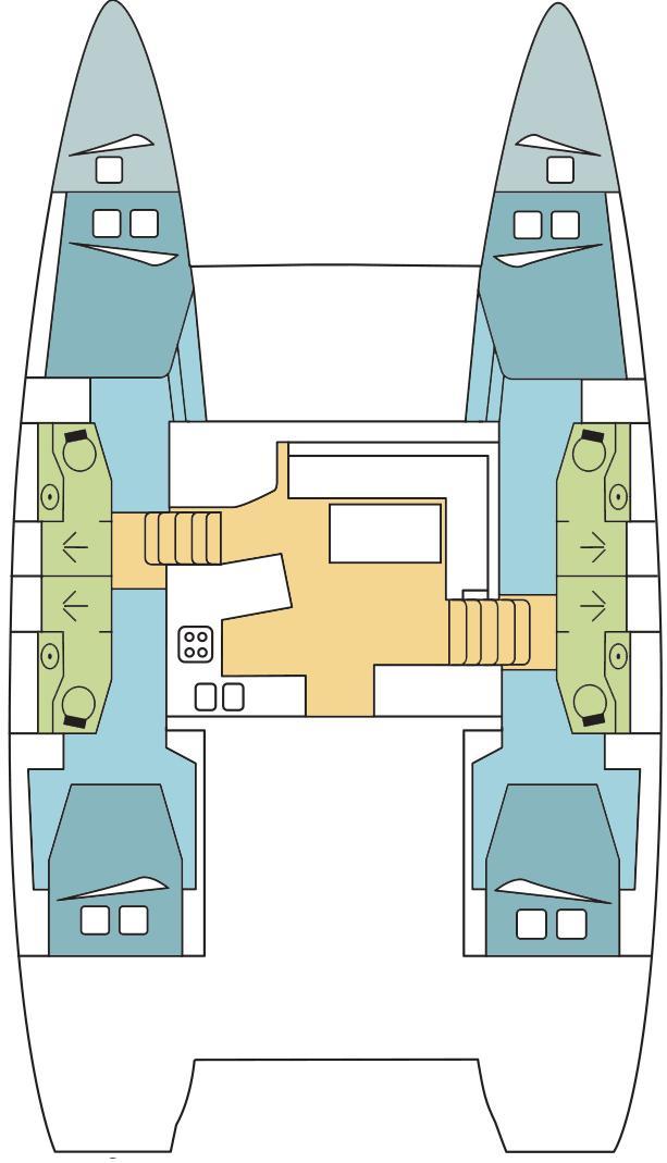 Lagoon 450 F - 4 + 2 cab. (WONDER )  - 1
