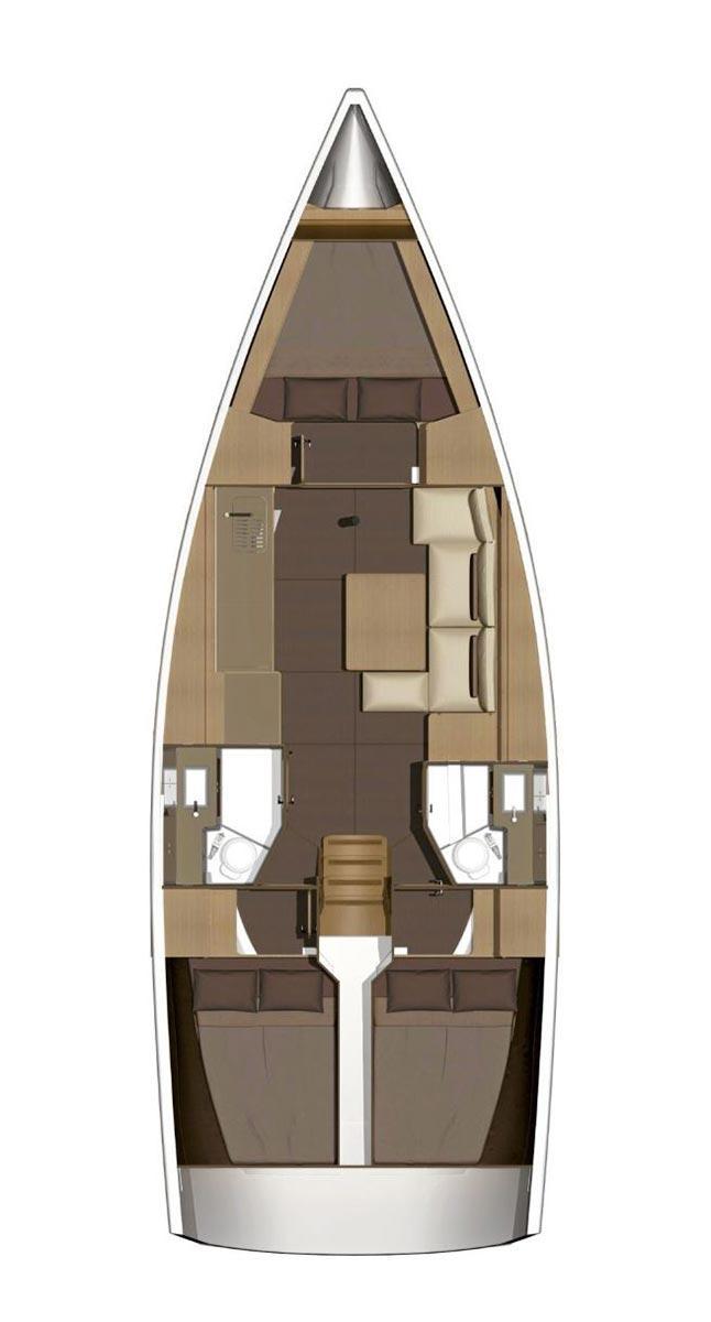 Dufour 382 GL - 3 cab. (Barka)  - 1